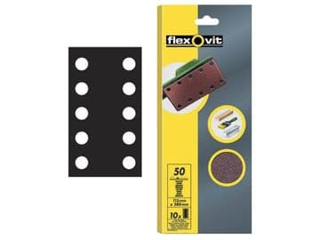 1/2 Sanding Sheets Perforated Fine 120 Grit (Pack of 10)